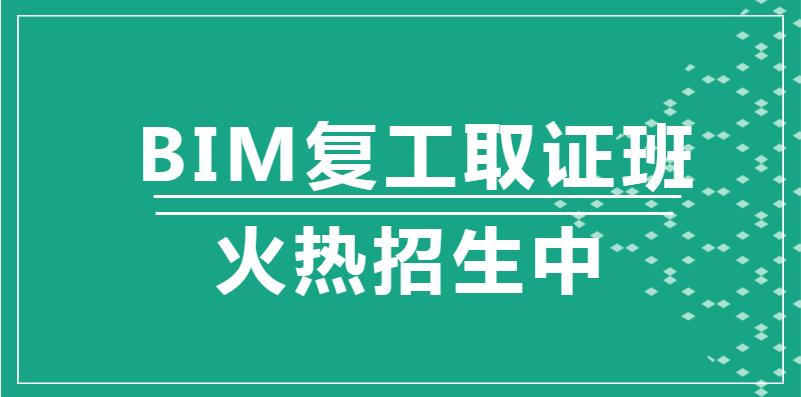 哈尔滨2020年BIM复工取证班