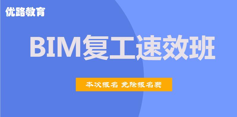 宁夏石嘴山2020年BIM复工速效班