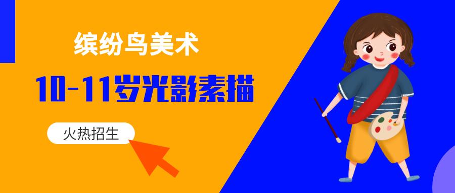 济南解放路缤纷鸟美术10-11岁素描培训班